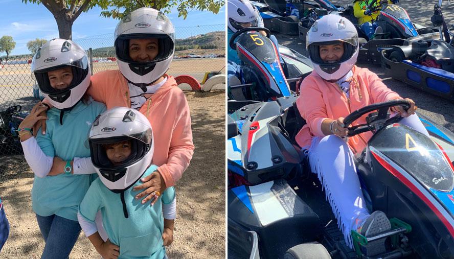 Domingo de karting en familia